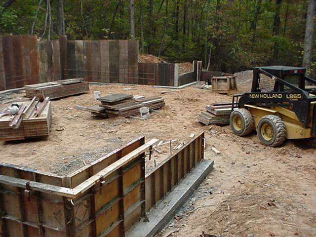 Concrete for Basement wall forms